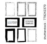 vector frames. rectangles for... | Shutterstock .eps vector #778242370