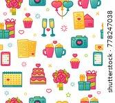 design pattern on white... | Shutterstock .eps vector #778247038