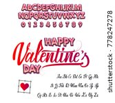 happy valentines day  font.... | Shutterstock .eps vector #778247278