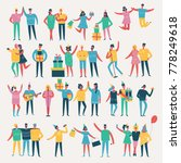 vector illustration in a flat... | Shutterstock .eps vector #778249618