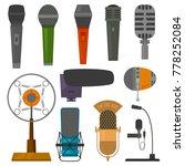 microphone audio vector... | Shutterstock .eps vector #778252084