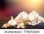 garlic. garlic cloves and...   Shutterstock . vector #778252630