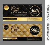 voucher template gift voucher... | Shutterstock .eps vector #778254838