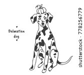 dalmatian dog sitting and... | Shutterstock .eps vector #778256779