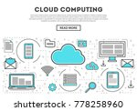 cloud computing linear style... | Shutterstock .eps vector #778258960