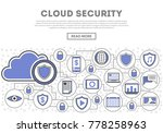 network cloud security linear... | Shutterstock .eps vector #778258963
