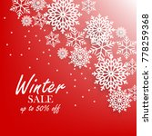 red winter background with... | Shutterstock .eps vector #778259368
