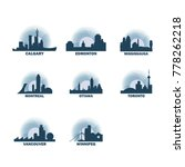 canada cities icons set.... | Shutterstock .eps vector #778262218
