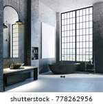 modern loft bathroom interior... | Shutterstock . vector #778262956
