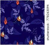 vector seamless pattern flowers ... | Shutterstock .eps vector #778263094