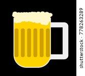 beer mug with foam on a black... | Shutterstock .eps vector #778263289