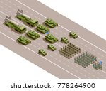 military parade isometric... | Shutterstock .eps vector #778264900