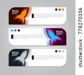 banner template for business... | Shutterstock .eps vector #778270336
