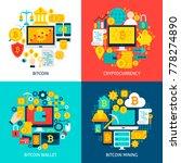 bitcoin flat concepts. poster... | Shutterstock .eps vector #778274890