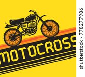 cartoon motocross or motorcycle ... | Shutterstock .eps vector #778277986