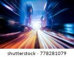 fantasy abstract motion speed... | Shutterstock . vector #778281079