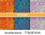 vector set of seamless pattern... | Shutterstock .eps vector #778287634