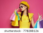shopping background  young... | Shutterstock . vector #778288126