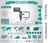 business training icon set  and ... | Shutterstock .eps vector #778293760