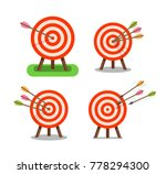 arrows and target standing on... | Shutterstock .eps vector #778294300