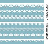 set of white seamless paper... | Shutterstock .eps vector #778295650