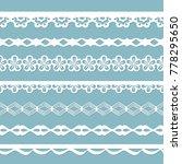 set of white seamless paper... | Shutterstock .eps vector #778295650