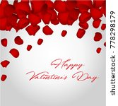 happy valentines day card with... | Shutterstock .eps vector #778298179