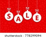 sale word on white christmas... | Shutterstock . vector #778299094