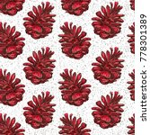 winter plant pine cone... | Shutterstock . vector #778301389