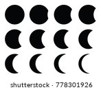 eclipse circle set or stages of ... | Shutterstock .eps vector #778301926