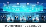 cloud data center server room... | Shutterstock .eps vector #778306708