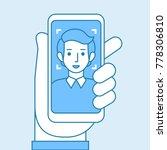 facial recognition concept.... | Shutterstock .eps vector #778306810