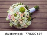 wedding flower bouquet with... | Shutterstock . vector #778307689