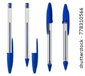 blue plastic ballpoint pen with ... | Shutterstock .eps vector #778310566