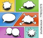comic elements with black... | Shutterstock .eps vector #778312573