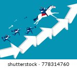 business team moving up arrow... | Shutterstock .eps vector #778314760