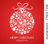 merry christmas   card with... | Shutterstock .eps vector #778317238