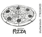 italian pizza   pizza design...   Shutterstock .eps vector #778318420