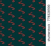 vector candy cane pattern.... | Shutterstock .eps vector #778328500