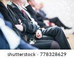 row of unrecognizable business... | Shutterstock . vector #778328629