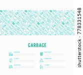 garbage concept with thin line... | Shutterstock .eps vector #778331548