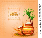 happy pongal religious festival ...   Shutterstock .eps vector #778333306