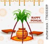 happy pongal religious festival ... | Shutterstock .eps vector #778333309