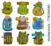 backpack camp vector... | Shutterstock .eps vector #778334080