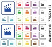 clapperboard color flat icons...   Shutterstock .eps vector #778336648