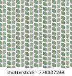 geometric leaves vector... | Shutterstock .eps vector #778337266