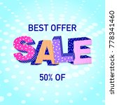 3d word sale on colorful... | Shutterstock .eps vector #778341460
