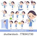 cabin attendant blue... | Shutterstock .eps vector #778341730