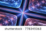 glowing quantum theory ... | Shutterstock . vector #778345363