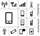 cellular icons. set of 13...